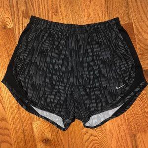 Striped Black Nike Shorts